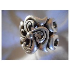 Sterling Silver Vintage Size 6 Ring