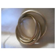 Sterling Silver Vintage 3 Band Ring