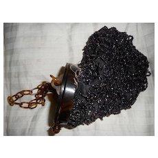 Celluloid  Beaded Vintage Handbag