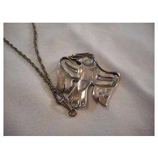 Sterling Silver Northwest Vintage Pendant Necklace