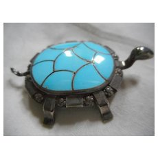 Sterling Silver Channel Inlay Zuni Pin/Pendant