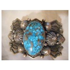 Sterling Silver Turquoise Navajo Bracelet