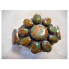 Sterling Silver Turquoise Vintage Navajo Bracelet