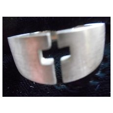 Sterling Silver Vintage Cross Ring