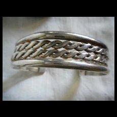 Sterling Silver Vintage Braided Bracelet