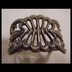 Sterling Silver Sand Cast Navajo Vintage Bracelet