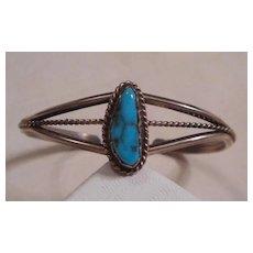 Sterling Silver Turquoise Navajo Baby Bracelet
