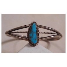 Sterling Silver Turquoise Navajo Baby Bracelet