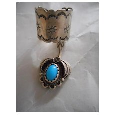 Sterling Silver Turquoise Earring Cuff