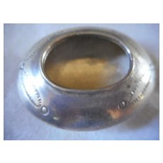Native American Sterling Miniature Stamped Bowl