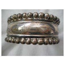 Sterling Silver Vintage Bracelet Cuff