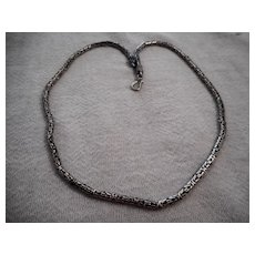 Sterling Silver Serpentine Link Necklace