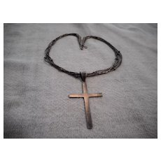 Sterling Silver Vintage Cross Necklace