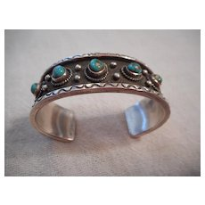 Sterling Silver Turquoise Vintage Bracelet