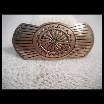Sterling Silver Stamped Hair Clip