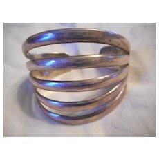 Sterling Silver Vintage 5 Row Cuff/Bracelet