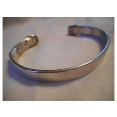 Sterling Silver Breast Cancer Awareness Bracelet