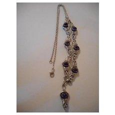 Sterling Silver Amethyst Vintage Necklace