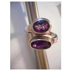 Sterling Silver Amethyst Vintage Ring
