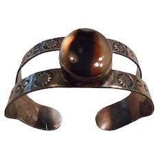 Sterling Silver Agate Vintage Fred Harvey Era Bracelet