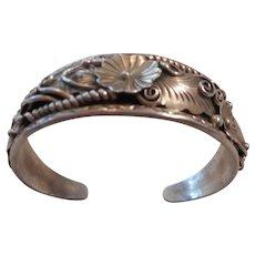 Navajo Sterling Silver Heavy Gauge Vintage Bracelet