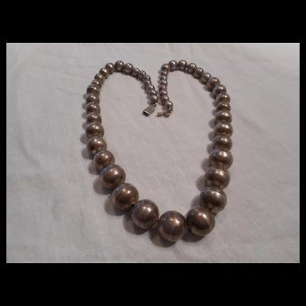 Sterling Silver Beaded Vintage Necklace