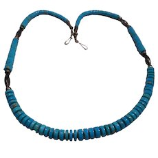 Turquoise Sterling Beaded Vintage Necklace