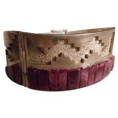 Navajo Sterling Silver Purple Spiny Oyster Vintage Bracelet