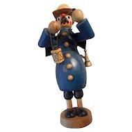 Night Watchman Vintage Wooden Incense Smoker