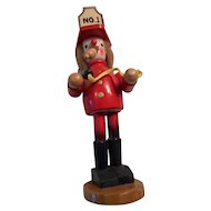 Fireman Incense Smoker Wooden Figurine