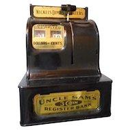 Uncle Sam Vintage Push Button Bank