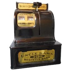 Uncle Sam Vintage Push Button Bank