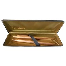 Eversharp Gold Filled Pen and Pencil In Case