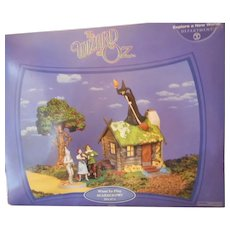 Wizard of Oz 'Want To Play Scarecrow' Porcelain Lighted House and Figurines