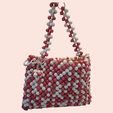 Mod Wooden Beaded Handbag