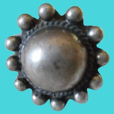Sterling Silver Vintage Bead Ball Ring
