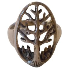 Sterling Tree Of Life Vintage Ring