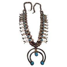 Navajo Kachina Squash Blossom Vintage Necklace