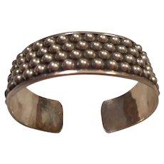 Sterling Silver Ball Beaded Vintage Bracelet
