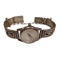 Navajo Sterling Silver Link Watch and Band