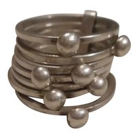 Sterling Silver Seven Band Ring
