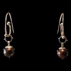 Chocolate pearls with Sprinkles Earrings