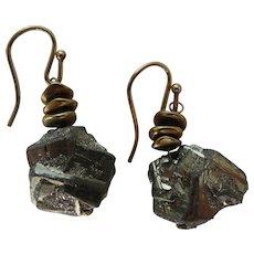 Pyrite Nugget Earrings