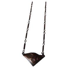 Mixed Metals Triangular copper necklace