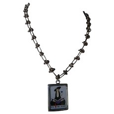 Charm necklace for book lovers