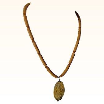 BumbleBee Jasper pendant, fine disks necklace