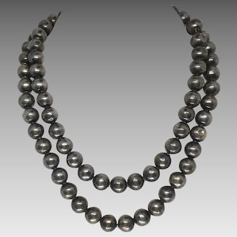 Large Vintage Sterling Silver Beads from Iguala Mexico