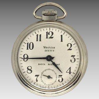 Vintage 50mm Westclox Scotty Mechanical Pocket Watch