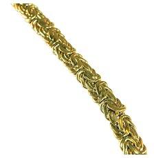 14K Byzantine Link Heavy Gold Bracelet, 18 Grams