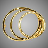 14k Gold Vintage 3 Circles Pin, So Many Circles, Just One Pin!